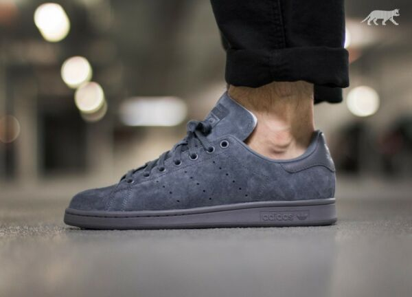 Adidas Originals STAN SMITH Onix Gray Suede S75108 Superstar Rod Laver NEW