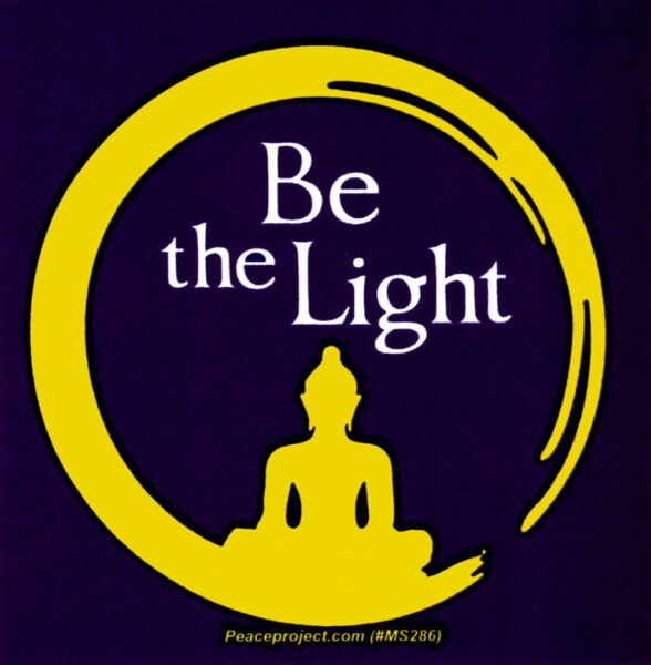 Be The Light Small Bumper Sticker Decal
