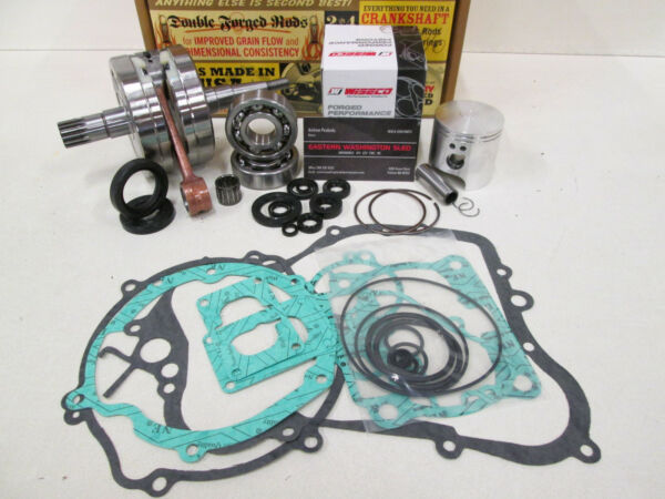 SUZUKI RM 125 ENGINE REBUILD KIT CRANKSHAFT WISECO PISTON GASKETS 2001-2003