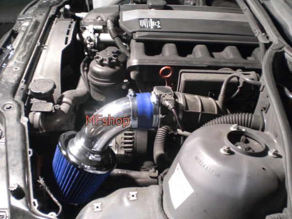 BLUE For 1998-2005 BMW E46 323 325 328 330 Air Intake System Kit + Filter