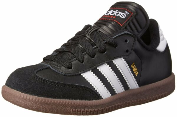 adidas SAMBA CLASSIC J Youth Boys Black/Runwht 036516 Leather Soccer Shoes