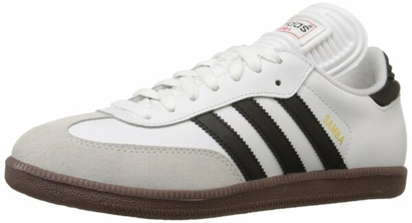 adidas SAMBA CLASSIC Mens Runwht/Black 772109 Lace Up Indoor Soccer Shoes