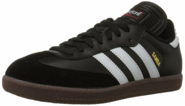 adidas SAMBA CLASSIC Mens Black/Runwht 034563 Lace Up Indoor Soccer Shoes