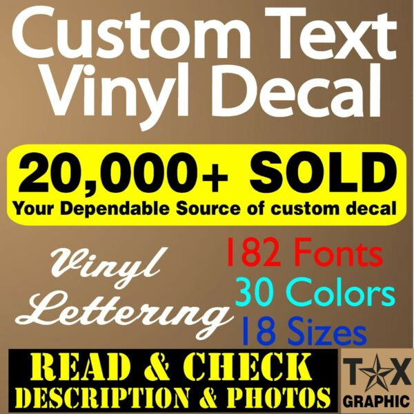 Custom Vinyl Lettering Decal Personalized Business Sign Text Name Vehicle Car $5.95