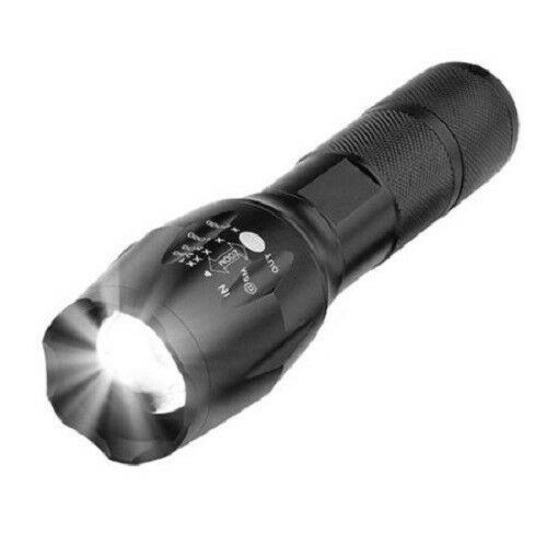 Tactical 10000LM 5 Modes LED 18650 Flashlight Zoomable Focus Torch Lamp