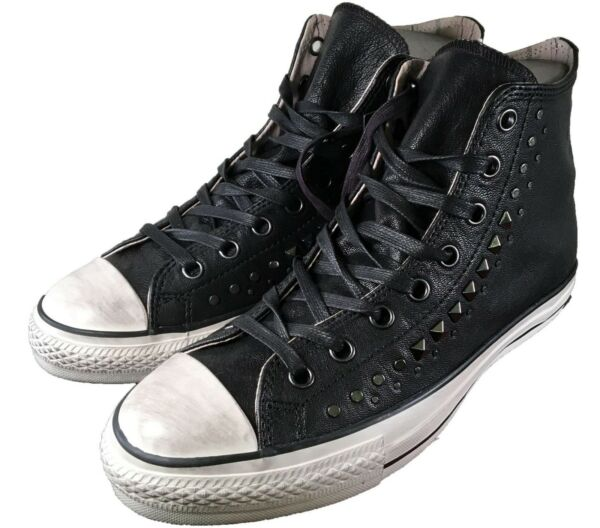 Converse John Varvatos Studded Leather Hi All Star Chuck Taylor BLACK 150162C