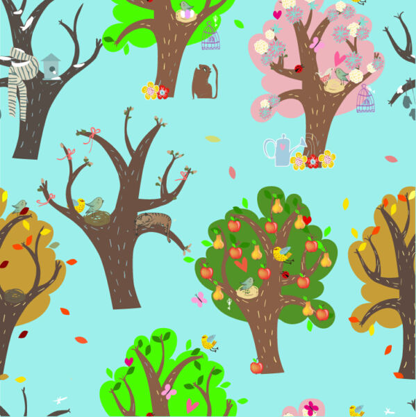 3D nursery tree background Wall Paper Print Decal Wall Deco Indoor wall Mural