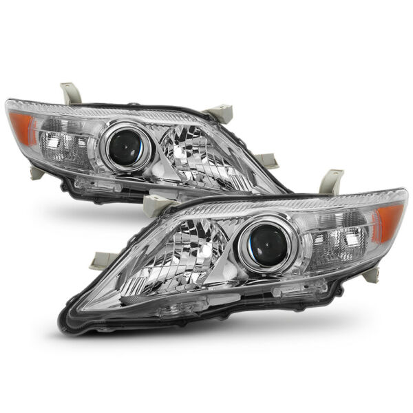 {Factory Style} For 10-11 Toyota Camry Chrome Bezel Headlight Replacement Lamp
