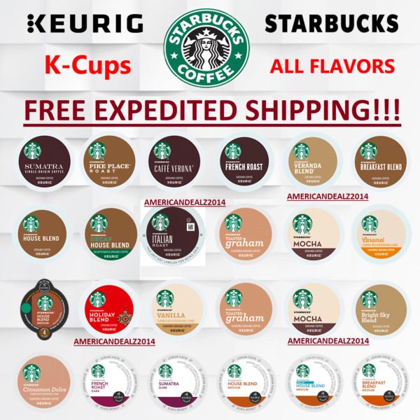 Starbucks Coffee Keurig K-Cups PICK FLAVOR & QUANTITY- FREE EXPEDITED SHIPPING!!