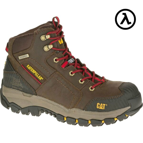 CAT NAVIGATOR MID WATERPROOF STEEL TOE WORK BOOTS - P90614 * ALL SIZES - NEW