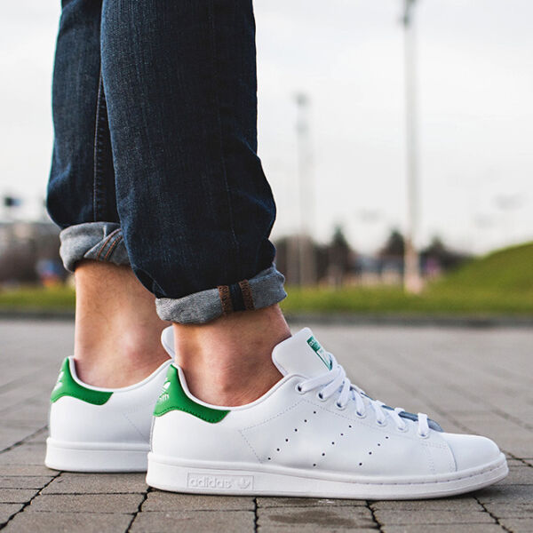 NEW Adidas Originals Stan Smith Men's Shoes White Fairway Green Leather M20324
