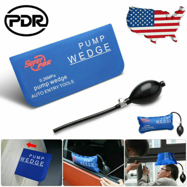 Inflatable Air Pump Wedge Door Window Shim Car Furniture Alignment Hand Tool