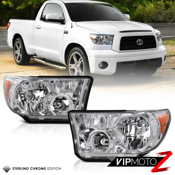 LH+RH Crystal Clear Headlight Signal Lamp For Toyota 07-13 Tundra 08-17 Sequoia