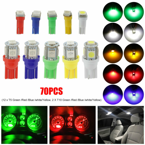 White 30 SMD Bolt-On LED Lamps for Car License Plate Lights Backup Reverse Light