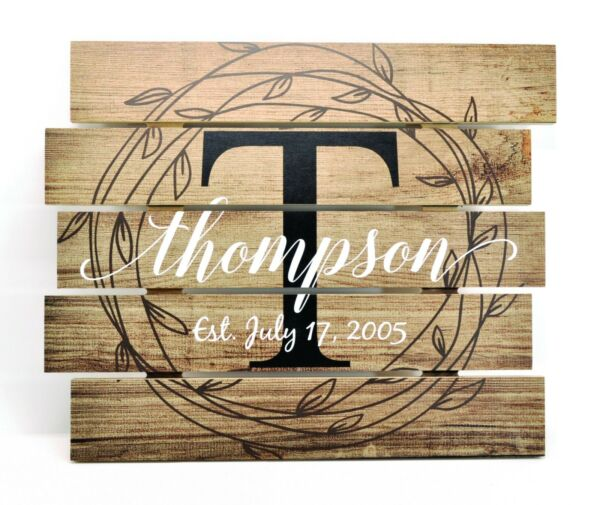 Personalized Rustic Family Name Skid Sign  Pallet Wood Style FREE SHIPPING