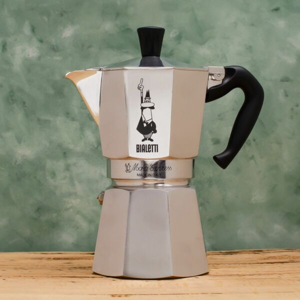 Bialetti Moka Express Coffee Percolator Aluminium Stovetop Coffee Maker