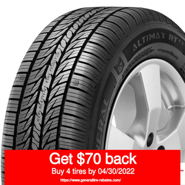GENERAL AltiMax RT43 23555R17 99H (Quantity of 2)