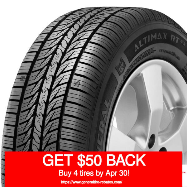 GENERAL AltiMax RT43 23560R17 102T (Quantity of 4)