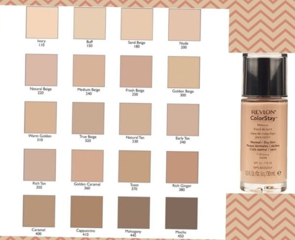 New Revlon Colorstay Makeup Foundation 24Hrs Combination/Oily, Normal/Dry Skin