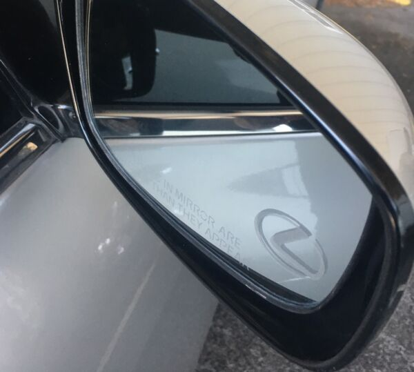 LEXUS Etched / Frosted Look Mirror Glass Decal Stickers ~ Set Of 2 ~ IS ES GS LS