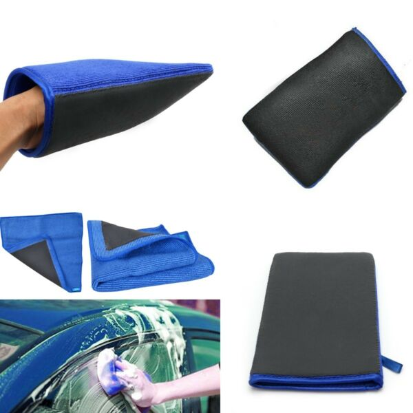 2Pcs Clay Bar Microfiber Auto Car Cloth Towel Detailing Cleaning Sponge Pad