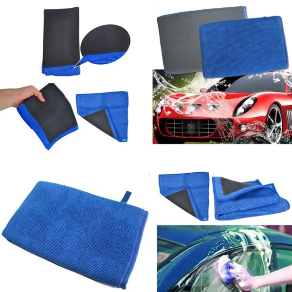 2PCS Nano Clay Mitt Cloth Car Care Cleaning Towel Microfiber Sponge Pad -New