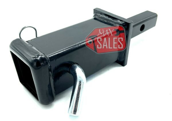 New Tow hitch reducer adaptor 1 1 4quot; to 2quot; with 5 8quot; safety Hitch pin $21.90