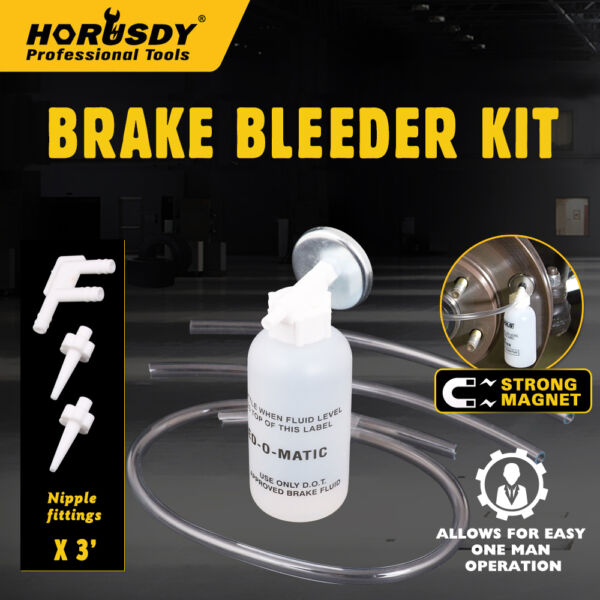 Automotive Brake Line Bleeding Bleeder Flush Tool Kit System Universal Service