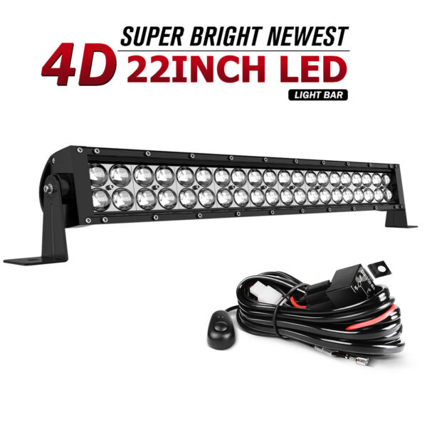 280W 22inch Led Light Bar Combo Work Driving UTE Truck SUV 4WD Boat 24#x27;#x27; Wiring