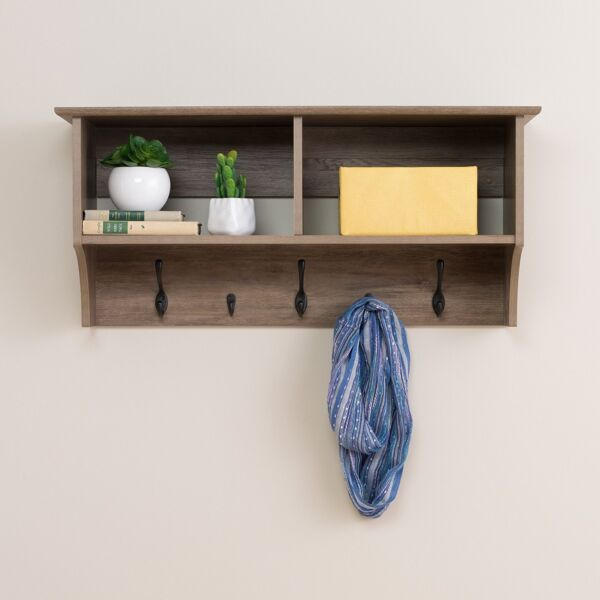 Prepac 36 inches Wide Hanging Entryway Shelf in Drifted Gray, DEC-3616 New