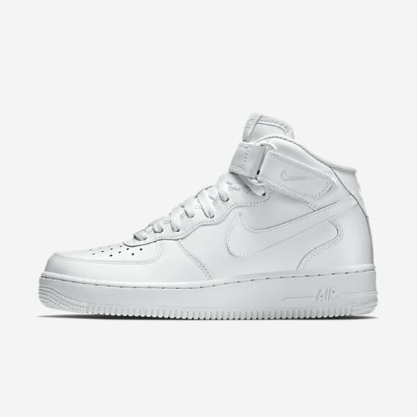 Nike Air Force 1 Mid # 315123 111 Triple White Men SZ 7.5 - 13