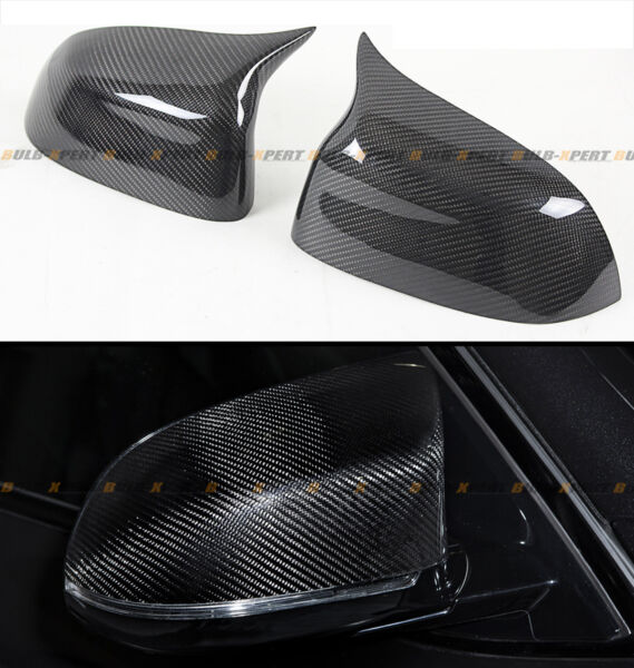 FOR 2015-2018 BMW X5 X6 CARBON FIBER SIDE MIRROR COVER CAPS REPLACEMENT- M STYLE