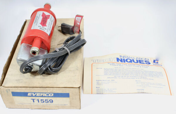 1940-1981 Inline Tank-type Engine Pre-heater Everco # T1559