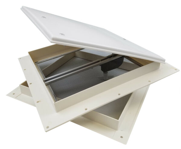 RV Mini Roof Vent WHITE 18511 C1G bathroom trailer camper cargo tiny house $32.95