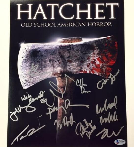 HATCHET Cast x12 Signed 11x14 Movie Poster Photo w BAS Beckett COA KANE HODDER