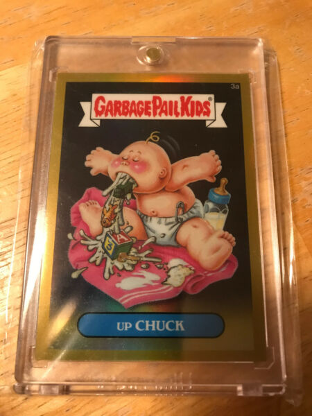 GARBAGE PAIL KIDS CHROME SERIES 1 GOLD REFRACTOR -- UP CHUCK 3A