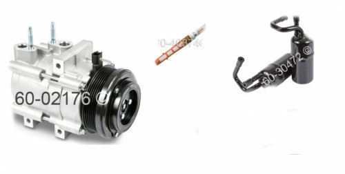 2006-2011 LINCOLN TOWN CAR NEW AC COMPRESSOR & DRYER WITH AC FILTER 3PC KIT