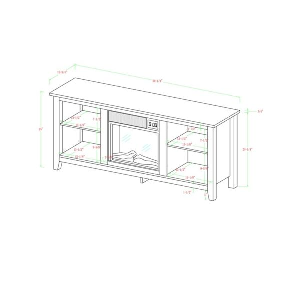 58quot; Rustic Fireplace TV Stand in Driftwood