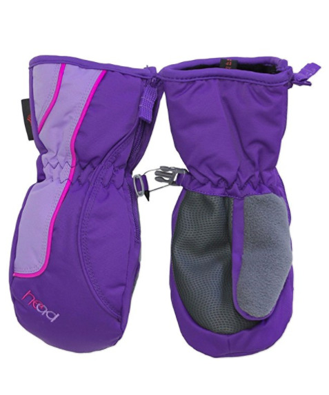 NEW HEAD GIRLS' SKI SNOW WINTER MITTENS DUPONT SORONA INSULATION - XXS  XS  S