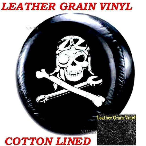 15quot; DIY trailer Spare tire Wheel Cover Mechanical Pirate Skull Heavy Duty Vinyl $14.93