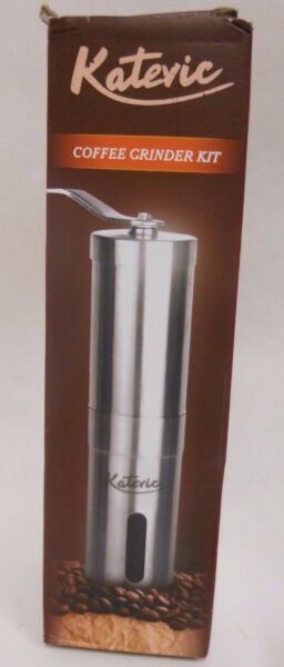 Katevic Manual Coffee Grinder w  Brush Spoon & Carry Bag C25