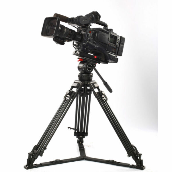 TERIS 66quot; V12L Video Camera Tripod Kit Aluminum Tripod Fluid Head Professional
