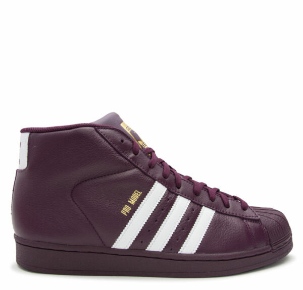 {AC7646} MENS ADIDAS PRO MODEL RED/WHITE/GOLD *RED*