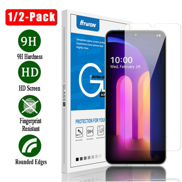 For LG V30/ LG V20 Premium Real Tempered Glass Screen Protector Clear Film 9H HD