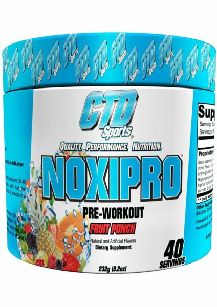 CTD Labs NOXIPRO Extreme Intensity Pre-Workout 40 Servings All Flavors NEW SEAL