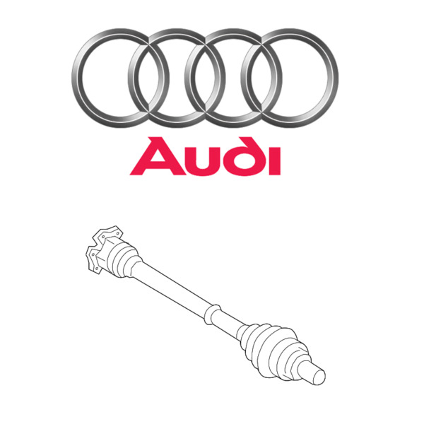 Audi Q5 Premium Plus L4 2.0 Axle Shaft Assemblies Front Set of 2 GENUINE NEW