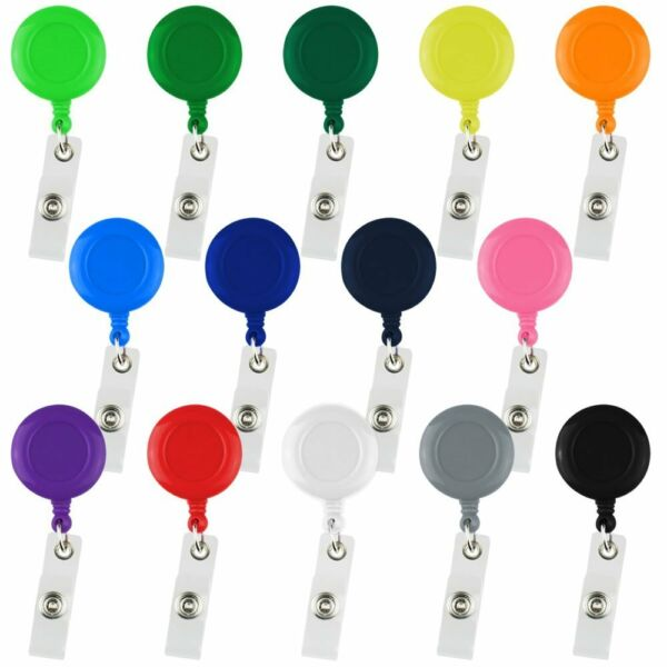 Assorted Color Retractable Badge Reels ID Key Card Name Tag Holders Belt Clip