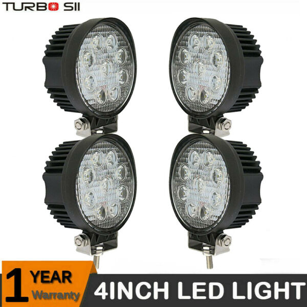 4x 288W LED Work Lights Pods Spot Fog Offroad Lamp For ATV JEEP UTE SUV 4'' Cube