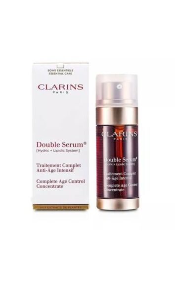 Clarins Double Serum Complete Age Control Concentrate 1.6 oz. New