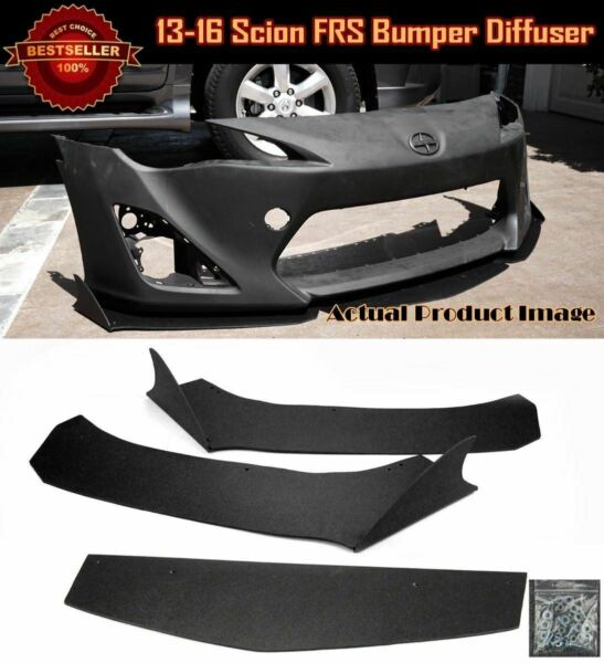 3 Pcs Bumper Diffuser Lip Splitter Spoiler Winglet Shark Fin Blade For 13-16 FRS
